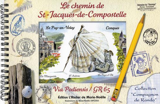 livre carnet de voyage sur saint jacques de compostelles en aquarelles du puy en velay. Black Bedroom Furniture Sets. Home Design Ideas